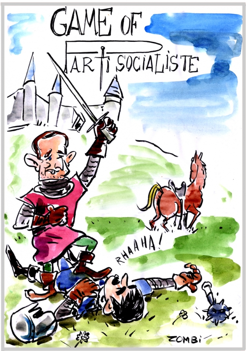 webzine,bd,zébra,fanzine,gratuit,bande-dessinée,caricature,benoît hamon,manuel valls,primaire socialiste,parti,game of thrones,dessin,presse,satirique,editorial cartoon,zombi