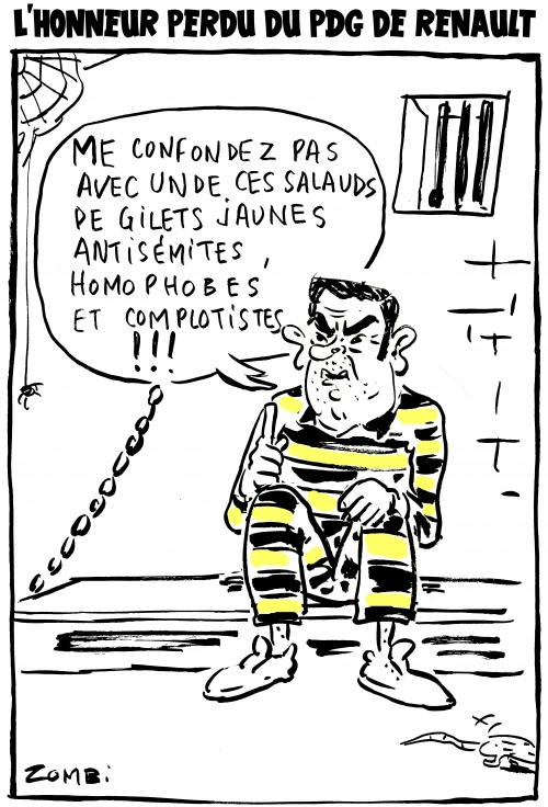 webzine,bd,zébra,gratuit,fanzine,bande-dessinée,caricature,carlos ghosn,prison,japon,dessin,presse,satirique,editorial cartoon,zombi