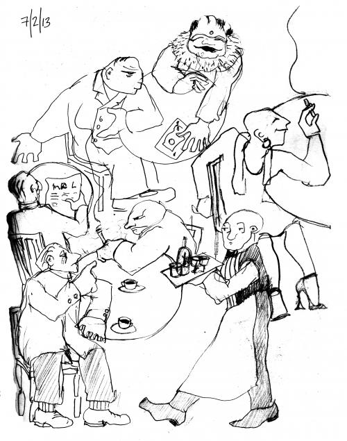 webzine,be,zébra,bande-dessinée,illustration,louise asherson,café,parisien,croquis,carnet,dessin