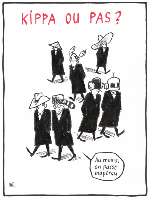 webzine,bd,zébra,gratuit,fanzine,bande-dessinée,caricature,kippa,chapeau,juif,dessin,presse,editorial cartoon,satirique,lb