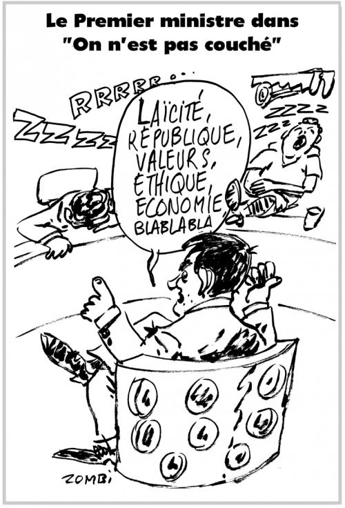webzine,bd,zébra,gratuit,fanzine,bande-dessinée,caricature,manuel valls,on n'est pas couché,#ONPC,dessin,presse,satirique,editorial cartoon,zombi