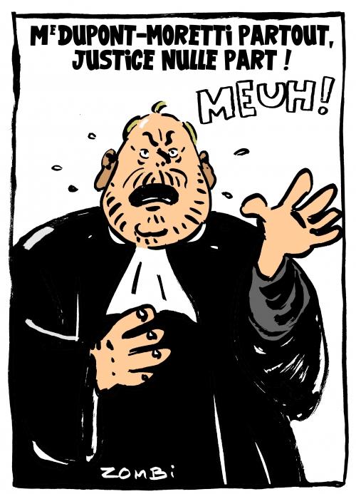 webzine,bd,zébra,fanzine,bande-dessinée,caricature,dupont-moretti,avocat,justice,dessin,presse,satirique,editorial cartoon,zombi