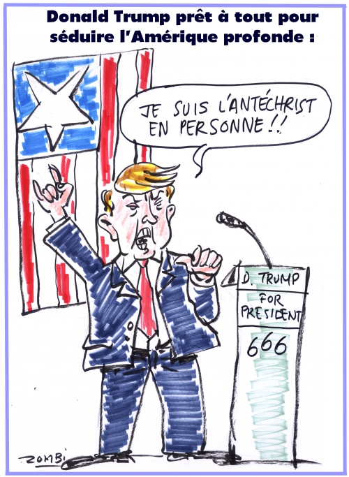 webzine,bd,zébra,fanzine,gratuit,bande-dessinée,caricature,donald trump,antéchrist,primaire,usa,dessin,presse,satirique,editorial cartoon
