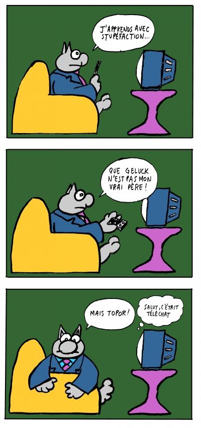fanzine,webzine,zébra,bd,bande-dessinée,parodie,pastiche,humour,strip,philippe geluck,chat,topor,téléchat
