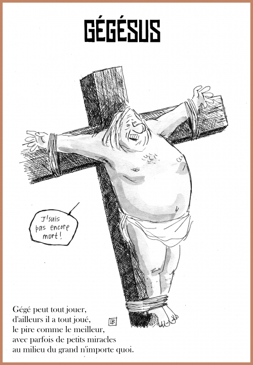 webzine,bd,zébra,gratuit,fanzine,bande-dessinée,caricature,gérard depardieu,jésus,croix,dessin,presse,satirique,lb,editorial cartoon