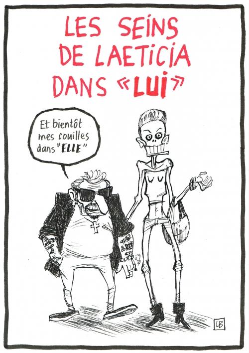 webzine,bd,zébra,gratuit,fanzine,bande-dessinée,caricature,leticia,hallyday,lui,nue,dessin,presse,satirique,editorial cartoon