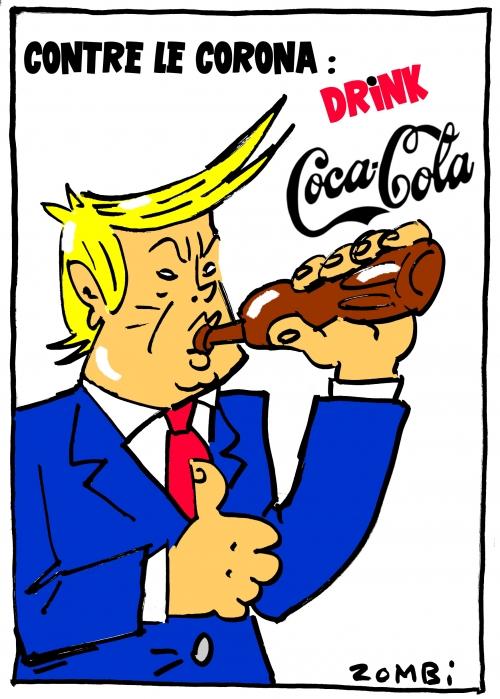 webzine,bd,zébra,gratuit,fanzine,bande-dessinée,caricature,donald trump,coca-cola,épidémie,coronavirus,remède,usa,dessin,presse,satirique,editorial cartoon,zombi