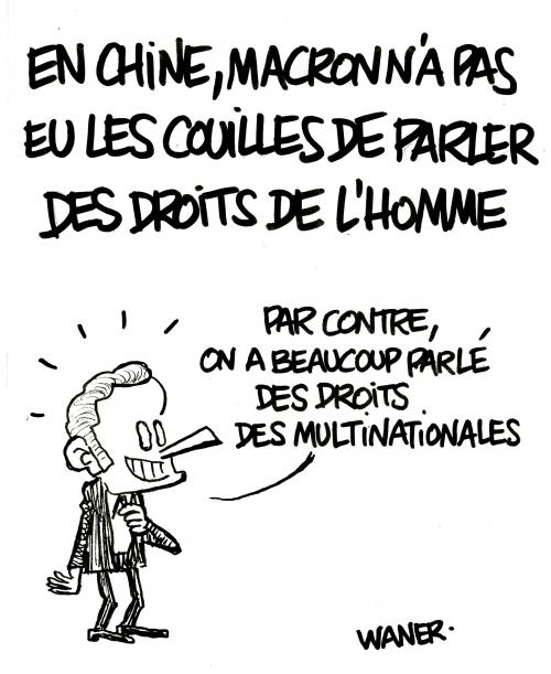 webzine,bd,zébra,fanzine,gratuit,bande-dessinée,caricature,chine,emmanuel macron,droits de l'homme,dessin,presse,satirique,editorial cartoon,waner