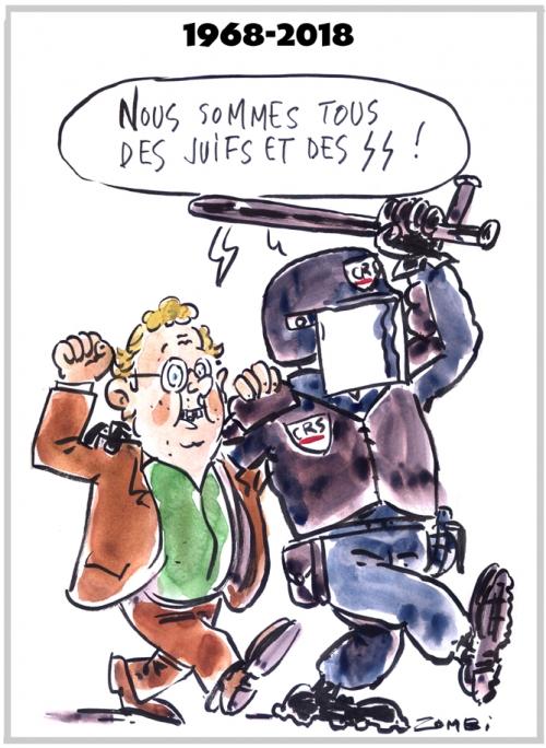 webzine,zébra,gratuit,fanzine,bd,bande-dessinée,caricature,daniel cohn-bendit,mai 68,crs,ss,juif,dessin,presse,satirique,editorial cartoon,zombi