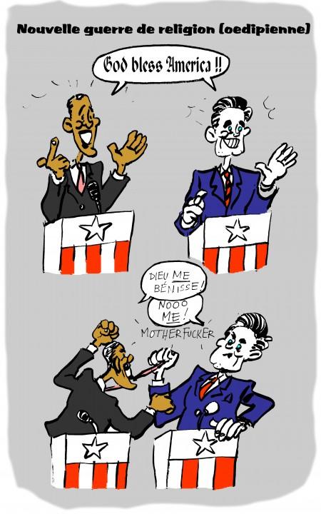 fanzine,zébra,webzine,bd,illustration,caricature,humour,google-car,zombi,san francisco,mitt romney,barack obama,burger king,mitt romney