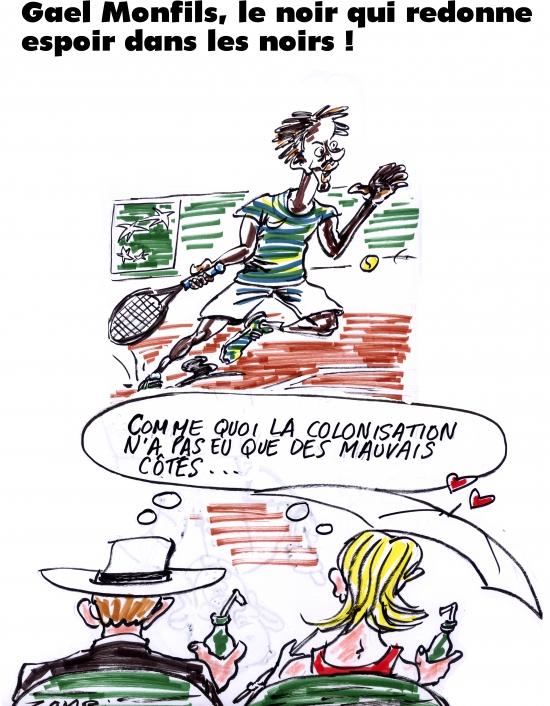 webzine,bd,gratuit,zébra,fanzine,bande-dessinée,caricature,gaël monfils,roland-garros,tennis,dessin,presse,satirique,zombi,editorial cartoon