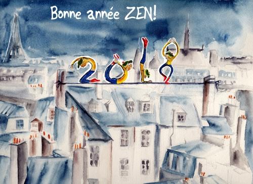 webzine,bd,zébra,gratuit,fanzine,bande-dessinée,lola,strip,voeux,2018,bonne année,aurélie dekeyser,dessin,paris,aquarelle