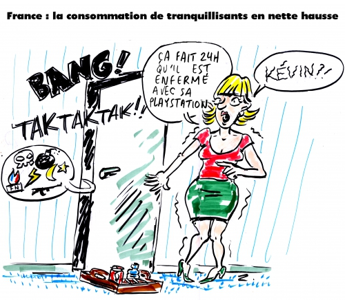 webzine,zébra,gratuit,fanzine,bd,bande-dessinée,caricature,tranquillisant,playstation,dessin,presse,satirique,editorial cartoon,zombi