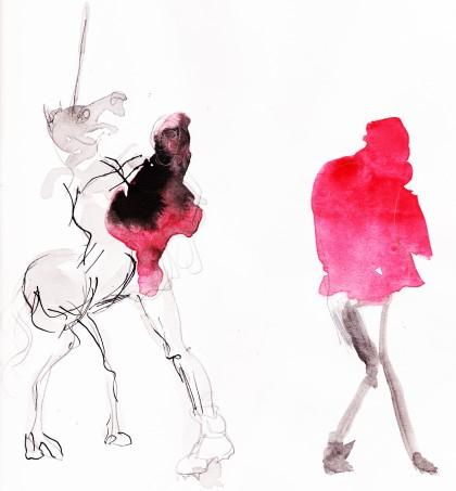 fanzine,zébra,bd,louise asherson,chaperon rouge,dante,esquisse,croquis,illustration