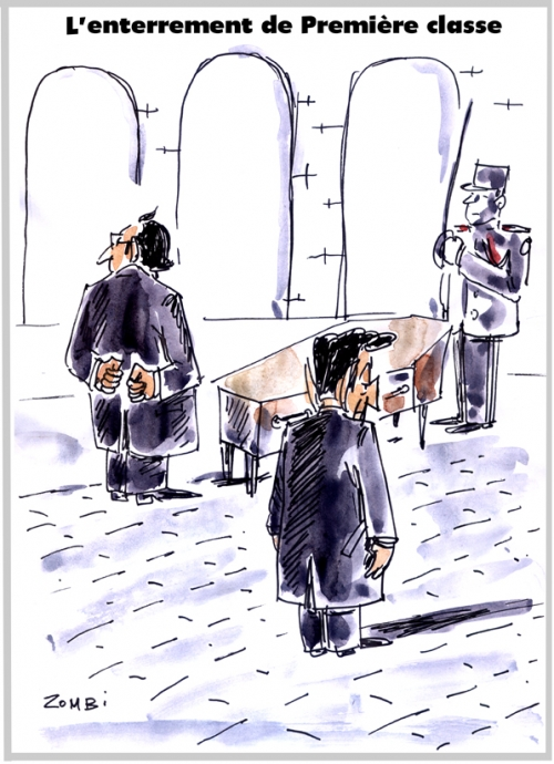 webzine,bd,zébra,gratuit,fanzine,bande-dessinée,caricature,françois hollande,nicolas sarkozy,enterrement,première classe,hommage national,dessin,presse,satirique,editorial cartoon,zombi