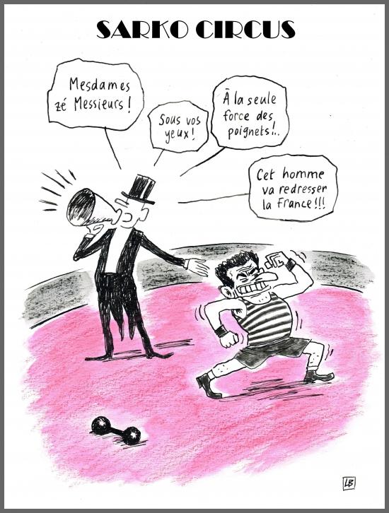 webzine,bd,zébra,gratuit,fanzine,bande-dessinée,caricature,nicolas sarkozy,circus,dessin,presse,satirique,lb,editorial cartoon