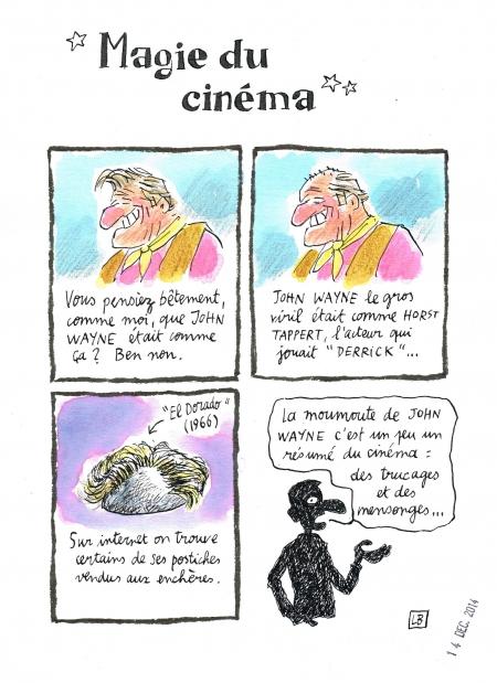 webzine,bd,zébra,gratuit,fanzine,bande-dessinée,caricature,cinéma,john wayne,perruque,moumoute,dessin,presse,satirique,editorial cartoon,lb