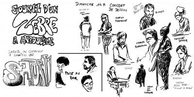 fanzine,bd,zébra,bande-dessinée,caricature,croquis,festival,angoulême,fibd,2013,reportage,david roche,concert