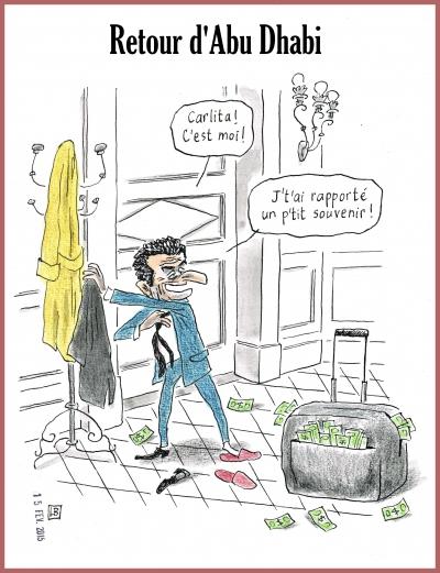webzine,bd,gratuit,zébra,fanzine,bande-dessinée,caricature,nicolas sarkozy,abu dhabi,carla bruni,dessin,presse,satirique,editorial cartoon,lb