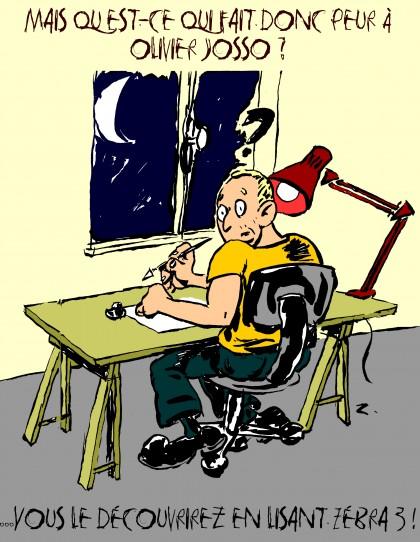 fanzine,zébra,bd,bande-dessinée,illustration,olivier josso,au travail