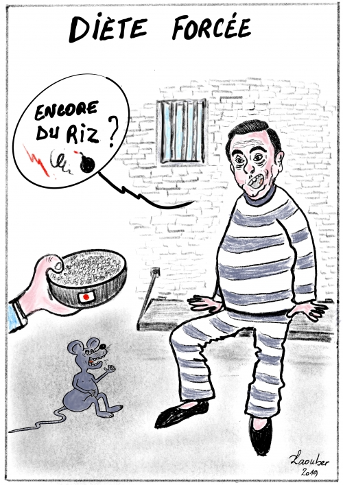 webzine,gratuit,zébra,bd,fanzine,bande-dessinée,caricature,carlos ghosn,prison,japon,dessin,presse,satirique,editorial cartoon,laouber