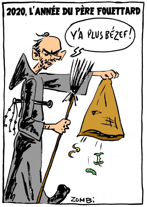 webzine,bd,zébra,gratuit,fanzine,bande-dessinée,caricature,edouard philippe,père fouettard,2020,réveillon,saint-sylvestre,bézef,dessin,presse,satirique,zombi