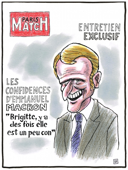 webzine,bd,zébra,gratuit,fanzine,bande-dessinée,caricature,emmanuel macron,paris-match,brigitte,interview,dessin,presse,satirique,énigmatique lb,editorial cartoon
