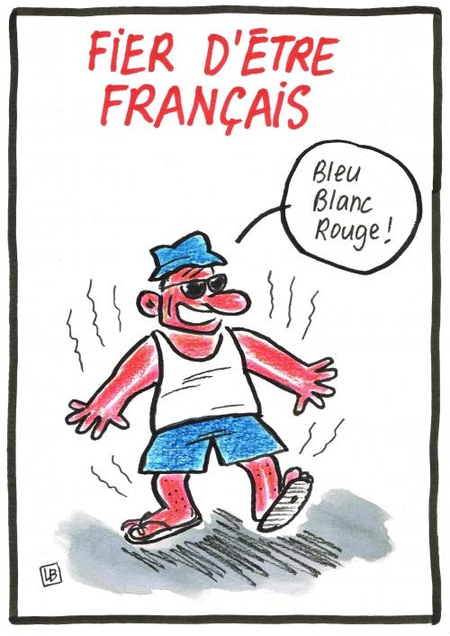 webzine,gratuit,zébra,bd,fanzine,bande-dessinée,caricature,français,fier,patriotisme,bleu blanc rouge,dessin,presse,satirique,editorial cartoon,lb,siné-mensuel