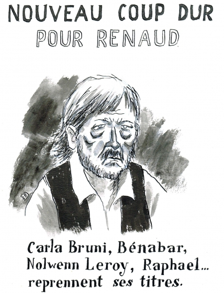 webzine,gratuit,zébra,bd,fanzine,bande-dessinée,caricature,renaud,séchan,chanteur,carla bruni,nolwenn leroy,bénabar,raphaël