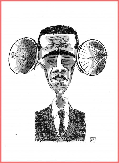 webzine,bd,zébra,gratuit,fanzine,bande-dessinée,caricature,barack obama,nsa,espionnage,grandes oreilles,dessin,presse,lb,satirique,editorial cartoon