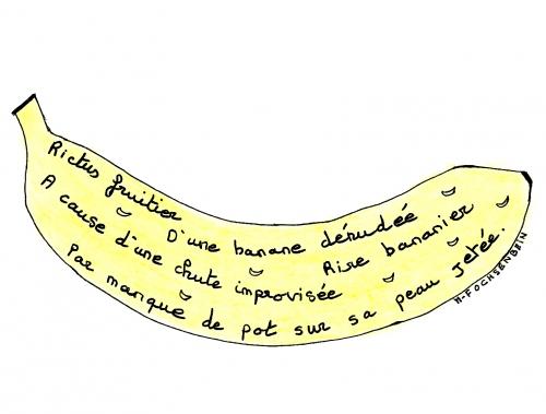 webzine,bd,zébra,gratuit,fanzine,bande-dessinée,poème,calligramme,banane,rictus,marie-france ochsenbein,dessin