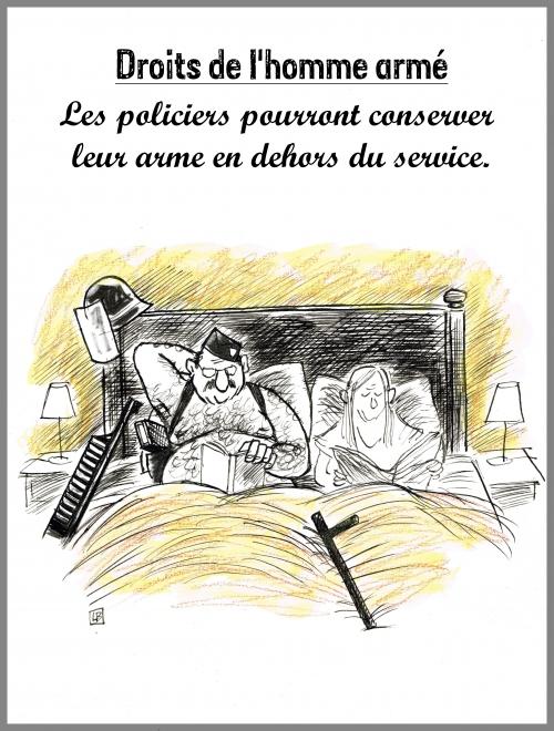 webzine,bd,zébra,gratuit,fanzine,bande-dessinée,caricature,police,arme de service,droits de l'homme,dessin,presse,satirique,editorial cartoon,lb