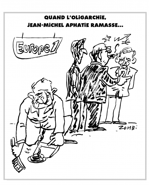 webzine,bd,zombi,zébra,gratuit,fanzine,bande-dessinée,caricature,jean-michel aphatie,europe 1,françois ruffin,oligarchie,lagardère,dessin,presse,satirique,editorial cartoon,zombi