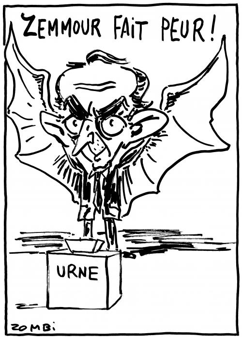 webzine,bd,zébra,gratuit,fanzine,bande-dessinée,caricature,éric zemmour,zombi,dessin,presse,satirique,présidentielle,2022,urne