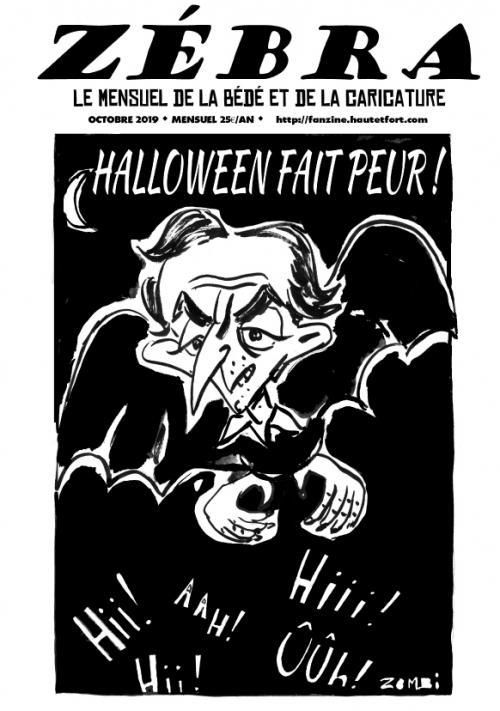 webzine,bd,gratuit,zébra,fanzine,bande-dessinée,pdf,mensuel,caricature,waner,zombi,lb,reyn,octobre,2019,dessin,presse,satirique