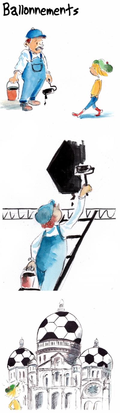 webzine,bd,gratuit,zébra,bande-dessinée,fanzine,strip,lola,aurélie dekeyser,foot,peinture,montmartre,sacré-coeur,euro 2016,humour