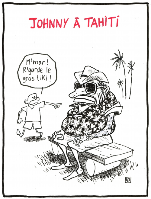 webzine,bd,zébra,fanzine,bande-dessinée,gratuit,caricature,johnny hallyday,tahiti,concert,2016,dessin,presse,satirique,énigmatique LB,editorial cartoon