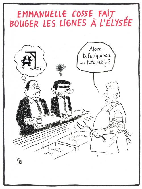 webzine,bd,zébra,gratuit,fanzine,bande-dessinée,caricature,emmanuelle cosse,verts,gouvernement,françois hollande,dessin,presse,satirique,editorial cartoon,lb