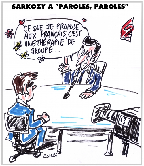webzine,bd,zébra,gratuit,fanzine,bande-dessinée,nicolas sarkozy,pujadas,des paroles et des actes,france 2,dessin,presse,editorial cartoon,satirique,zombi