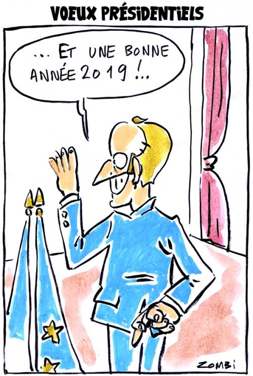 webzine,bd,zébra,fanzine,gratuit,bande-dessinée,caricature,voeux 2019,emmanuel macron,bonne année,dessin,presse,satirique,editorial cartoon,zombi