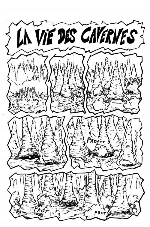 fanzine,bd,zébra,david roche,strip,vie des cavernes