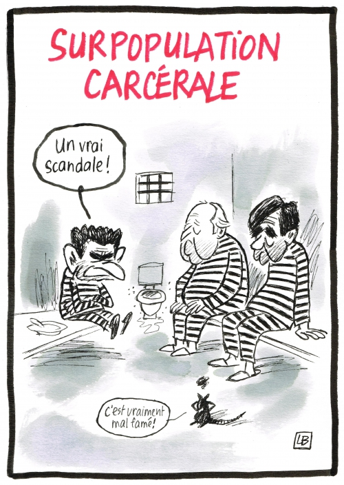 webzine,bd,zébra,gratuit,fanzine,bande-dessinée,caricature,prison,sarkozy,fillon,balladur,surpopulation carcérale,dessin,presse,satirique,editorial cartoon,énigmatique lb,siné-mensuel