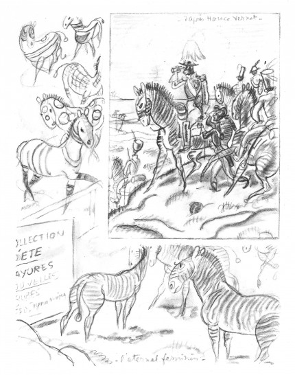 fanzine,zébra,bd,illustration,zoo,horace vernet,gus bofa,emmanuel pollaud-dulian,biographie,cornélius,mornay
