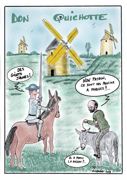 webzine,bd,zébra,gratuit,fanzine,bande-dessinée,caricature,macron,edouard philippe,don quichotte,moulins,dessin,presse,satirique,editorial cartoon,laouber