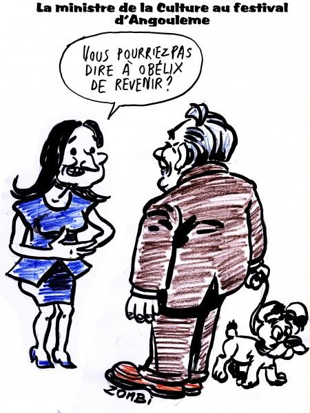 fanzine,zébra,bande-dessinée,bd,caricature,aurélie filippetti,uderzo,angoulême,obélix,satirique,dessin
