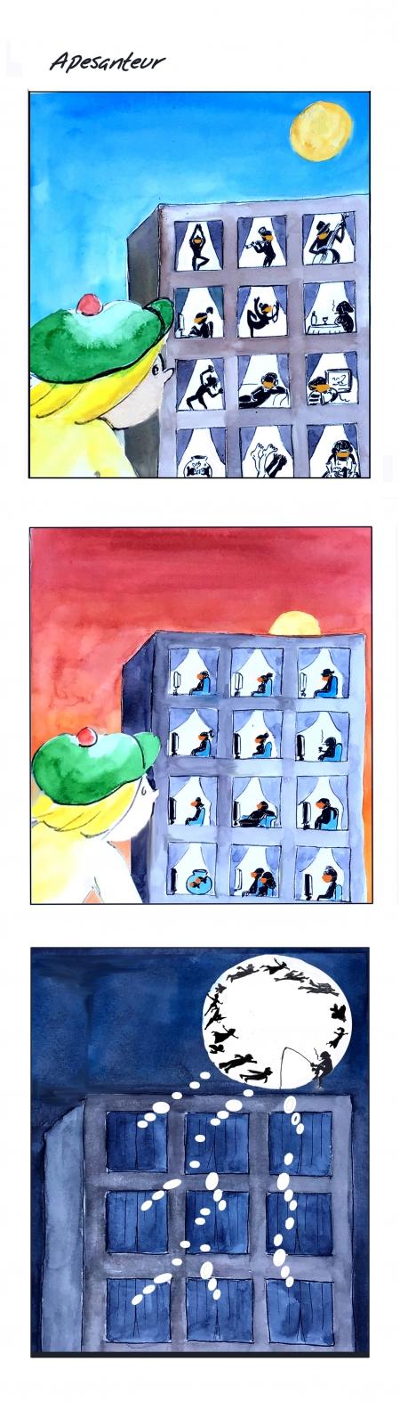 webzine,bd,gratuit,zébra,bande-dessinée,fanzine,strip,lola,aurélie dekeyser,coronavirus,paris,covid-19,confinement,apesanteur