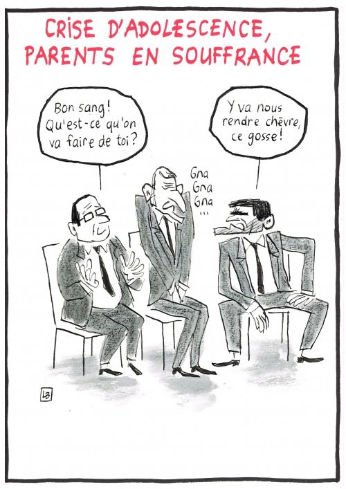 webzine,zébra,gratuit,bd,fanzine,bande-dessinée,caricature,emmanuel macron,manuel valls,françois hollande,crise d'adolescence,politique,ado,dessin,presse,satirique,editorial cartoon,lb