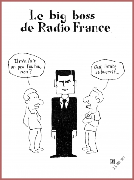 webzine,bd,gratuit,zébra,bd,fanzine,bande-dessinée,caricature,pdg,radio-france,mathieu gallet,dessin,presse,editorial cartoon,lb