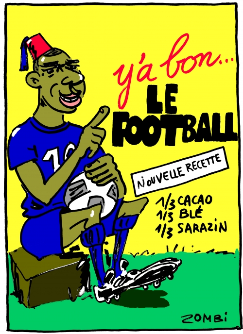 webzine,bd,zébra,fanzine,bande-dessinée,caricature,mbappé,football,ligue des nations,banania,sénagalais,colonialisme,dessin,presse,satirique,editorial cartoon,zombi