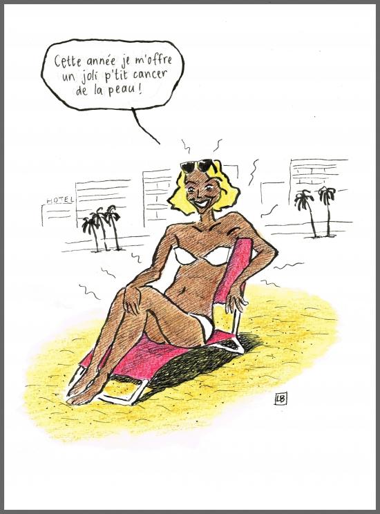 webzine,bd,zébra,gratuit,fanzine,bande-dessinée,caricature,cancer,peau,bronzage,uv,vacances,humour,dessin,lb